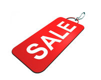 Sale. Illustration of a red tag with sale text Royalty Free Stock Photos