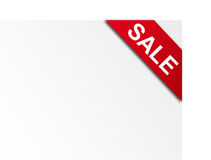 Sale. White card with sale  advertisement. blank illustration Stock Image