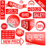 Sale. Set of price tags in vector design Royalty Free Stock Image