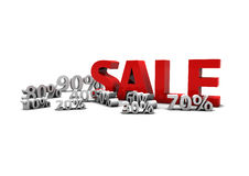 Sale. Percent's from 10 to 900 royalty free illustration