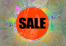 Sale. A floral design for sale Stock Images