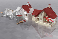 Sale. Abstract 3D image - building and sale of apartment houses Stock Photography