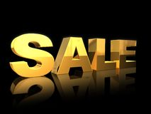 Sale. 3D golden SALE letters, 3d generated Stock Photography