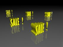 Sale. Abstract Sale background in yellow Stock Images