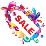 Sale. Attractive colorful sale composition. Vector version available Royalty Free Stock Photo