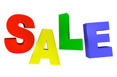 Sale. Concept, formed of colorful letters; great for shopping, s, advertising, discounts and promotion Stock Photos