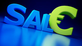 SALE. On a blue background Royalty Free Stock Image