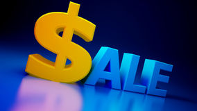 Sale. On a blue background Royalty Free Stock Photo