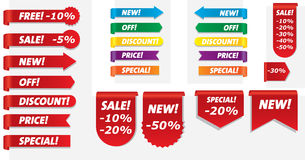 Sale. Set of sale icons, labels, stickers. Vector art Stock Photo