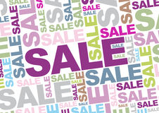 Sale. Words in different colors Stock Images
