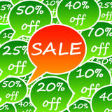 Sale. Time with various discounts Stock Images