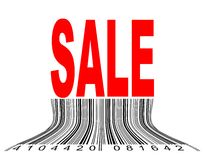 Sale. Vector illustration of thawing barcode under the Sale Royalty Free Stock Photography
