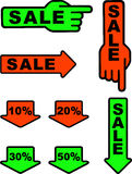Sale. Vector illustration depicting various icons for sale Royalty Free Stock Images