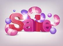Sale. Cartoon Illustartion of Sale Letters Stock Photo