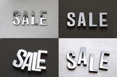 Sale. Is for designer use metal word Sale Royalty Free Stock Photography