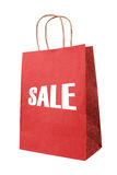 Sale. Red paper bag isolate Stock Images