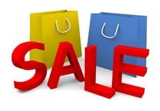 Sale. 3d sale text on white background Stock Image