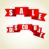 Sale. Illustration that contains a set of sale tags Stock Photography
