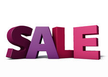 Sale. For brochures and posters, 3d illustration Royalty Free Stock Images