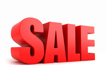 SALE. 3d render of the word SALE Royalty Free Stock Photo
