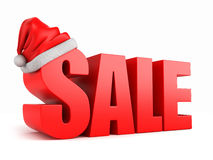 SALE. 3d render of the word SALE with santa hat Stock Image