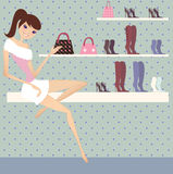 Sale. Beauty shopping at shopping mall Stock Photo