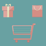 Sale. Illustrations sale, in flat design Royalty Free Stock Photo