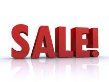 Sale 3d Royalty Free Stock Photo