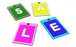 Sale in 3d Stock Photography