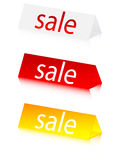 Sale on 3d figures. Sale message on 3d figures Royalty Free Stock Photography