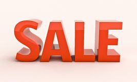 Sale 3d renfer Royalty Free Stock Photo
