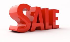 Sale 3d renfer Stock Image