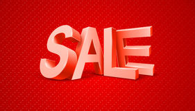 Sale 3d text message Stock Image