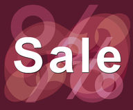 'sale'. Ready-to-print sale sign Stock Images