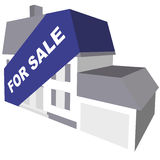 For Sale. Concept of house for sale with banner Royalty Free Stock Photo