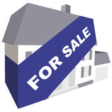 For Sale. Concept of house for sale with banner Royalty Free Stock Image