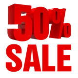 Sale 50% Icon. 3d rendered illustration 50% sign Stock Photos