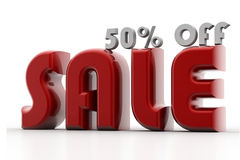 Sale 50 Percent Off Stock Image
