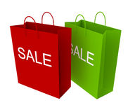 Sale. Shopping bags isolated on white Royalty Free Stock Images