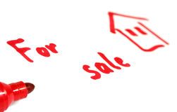 For sale. Red text on white background Royalty Free Stock Image