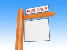 For sale. 3d illustration of generic 'for sale' sign close-up vector illustration