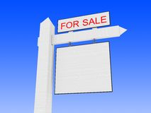 For sale. 3d illustration of generic 'for sale' sign closeup Stock Photo