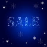 Sale. New years sale background with snow stock illustration