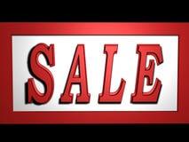 Sale. High resoulation 3d Render in red color Stock Images