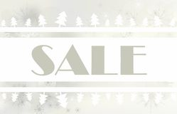Sale with abstract christmas tree Stock Photo
