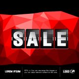 Sale abstract geometric background stock illustration
