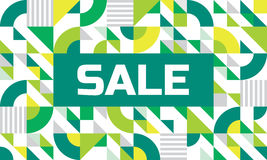 Sale - abstract geometric banner. Vector background concept illustration in green colors. Design layout Stock Photos