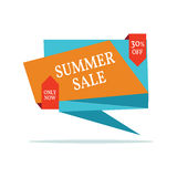 Sale abstract vector origami banner - special offer 50% off. Royalty Free Stock Photos
