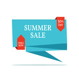 Sale abstract vector origami banner - special offer 30% off. Stock Photo