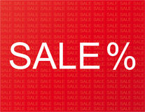 Sale advertisement. With red background Royalty Free Stock Image